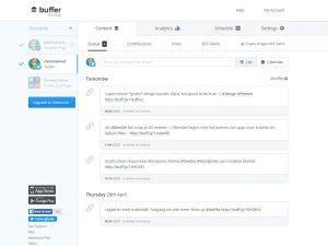 Buffer screenshot voorbeeld