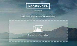 Landscape screenshot landingspagina