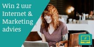Win 2 uur internet en marketing advies van MINT internet.