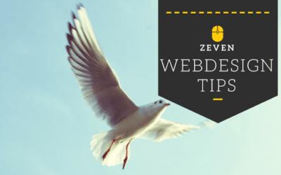 7 Onmisbare Web Design Tips