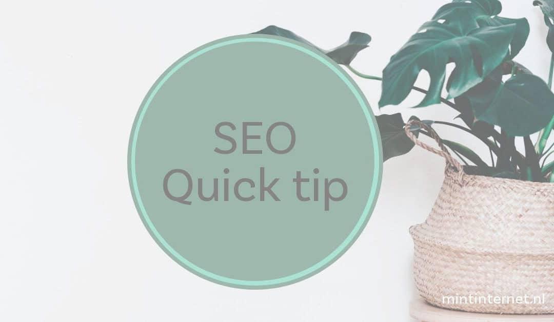 SEO Quick tip: Keyword synoniemen vinden met Google