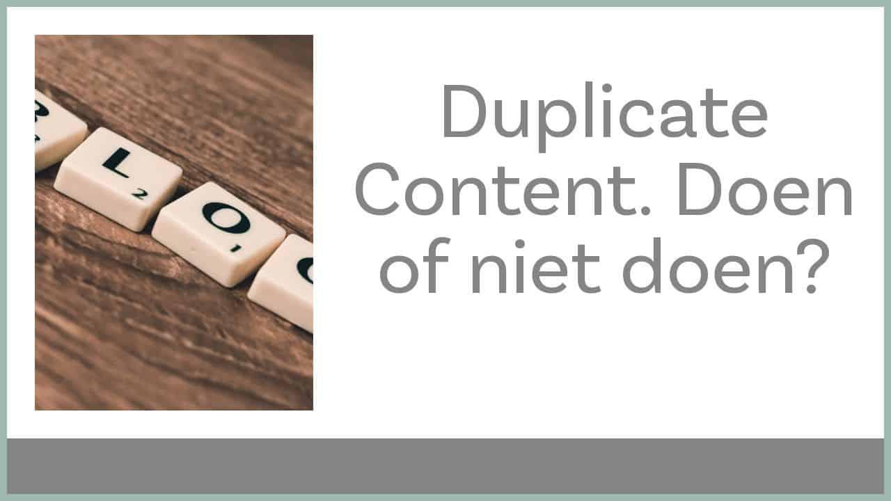 Duplictae content en bloggen op LinkedIn